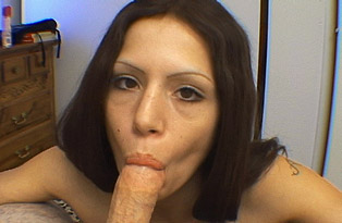 Cock-Gobbling-Brunette-Gets-Facial